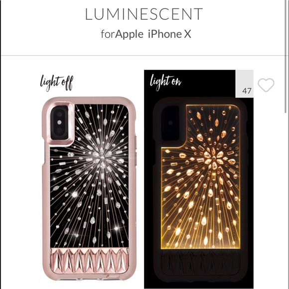 new styles 28470 abef8 LN Casemate Luminescent iPhone X case